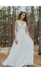 Vestido de Noiva Boho Chic Casamento Praia ou ar livre