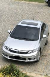 Honda Civic Exs completo + teto aceito troca carro automático menor valor - 2013