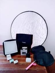 Kit Fotográfico com lente 50mm Canon - Produtos novos