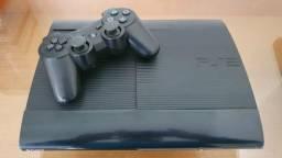 """PlayStation 3 Super Slim Semi Novo """"Com 1 jogo Físico """" - Com Garantia"""