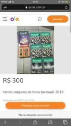 Vendo conjunto de livros bernoulli 2019