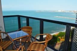 Flats em Fortaleza mobiliados com varanda e vista ao mar, apartamentos com dois quartos