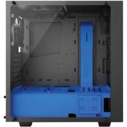 Gabinete Gamer Nzxt S340 Elite Preto/azul Lateral Vidro Temperado