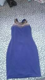Vestido azul novo 100 Reais passo cartão