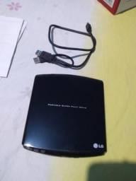 Leitor / Gravador de DVD externo LG GP10