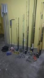 (5) varas de pescar completa