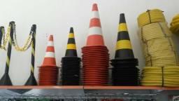 Cone de 75 Cm amarelo ou e preto ou branco e laranja
