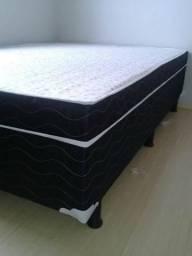 2 Travesseiros Brinde _Box Casal 12Cm Espuma Selada D45 _ Entrega Grátis