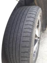 2 pneus 195/55/15 usados bons