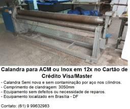 Venda de Calandra usada para ACM e aço inox