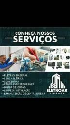 Elétricista! Limpeza de Central de Ar! Segurança eletrônica