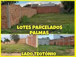 Lotes parcelados em Palmas lado Teotônio e Assaí