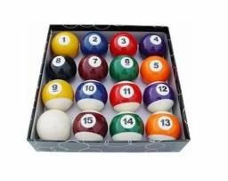 Bolas Jogo Numeradas 50mm Bilhar Sunuca C/ Caixa Faixadas