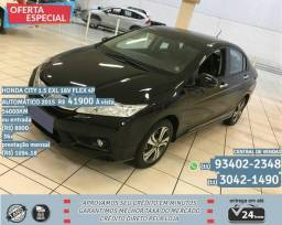 Preto Honda city 1.5 exl 16V Flex 4P automatico 2015 R$41985 54093km - 2015