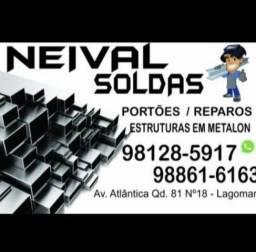 Trabalho com Soldas, portões, reparos e estruturas em Metalon