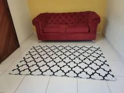Tapete sala geométrico antiderrapante