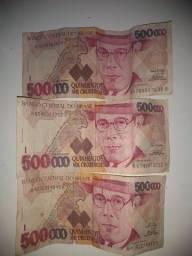 Dinheiro 500.000 mil cruzeiros