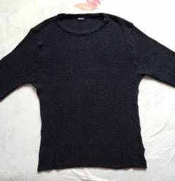 Blusa de frio em lã grossa Osklen Original Nova - Preta!