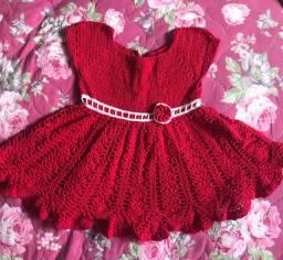 Vestido crochê 3-4 anos