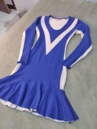 Vestido tricô com laycra M
