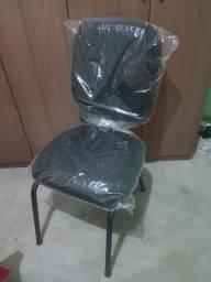 Cadeira diretor sem braço base fixa pra escritório semi nova