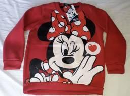 Blusa Moleton Minnie Licenciado Disney Caedu Infantil Tam. 4 - Novo