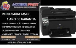 Impressora multifuncional HP Laserjet Pro 100 M175NW wireless