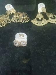 Título do anúncio: Brincos dourado folheados