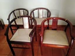 Conjunto de cadeira colonial
