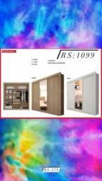 Título do anúncio: Guarda roupa com espelho NOVO ph1681
