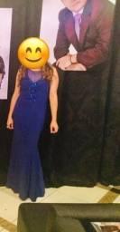 Vestido Longo modelo Sereia - Azul Royal