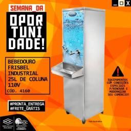 Título do anúncio: Bebedouro Frisbel Industrial 25l De Coluna 110v Novo Frete Grátis