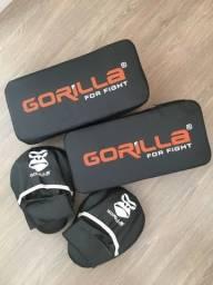 Kit aparador de chute + manopla Gorilla