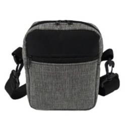 Mini Pochete Bolsa de Ombro Couro/ Nylon Prova D'agua