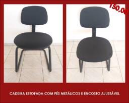 Título do anúncio: Cadeiras com pés metálicos e encosto ajustável