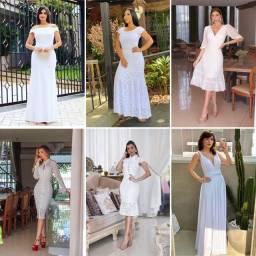 Vestido de noiva venda a partir de 100 reais novos tendência casamento civil cartório