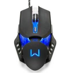 Título do anúncio: Mouse Gamer Warrior Keon 3.200 DPI Preto MO267 Novo