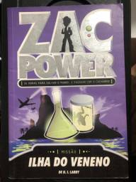 Livro Zac Power: ilha do veneno