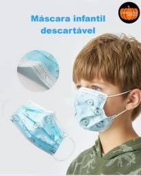 Máscara Descartável Infantil Tripla C/clip Nasal E Desenho
