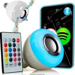 Título do anúncio: Lampada Musical Caixa Som Bluetooth Led Rgb Com Controle E27