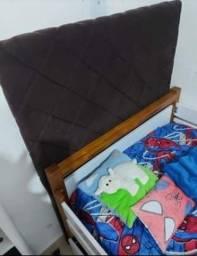 Cabeceira estofada para cama box solteiro