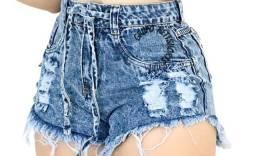 Short jeans cintura alta tamanho 42