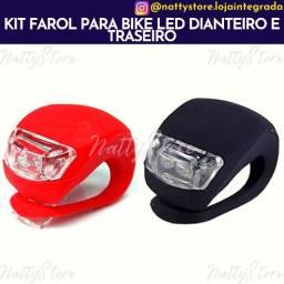 Kit Farol para Bike Led Dianteiro e Traseiro