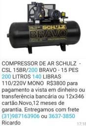 Compressor 200 litros Novo