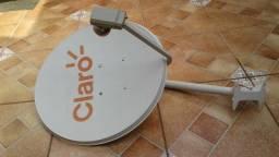 Antena para Sky gato e imagem de satélite - Completa com LNB Duplo