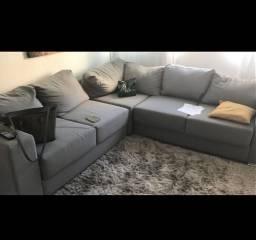 Sofa grande retrátil e modular