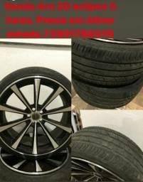 Roda liga leve aro 20 com pneus semi novos