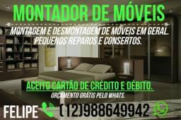 Montador de móveis whatsapp 988649942 aceito cartão