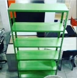 Estante verde com 6 prateleiras - direto de fábrica