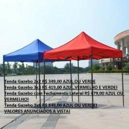 Tenda Gazebo sanfonada 2x2, 3x3 e 3x6